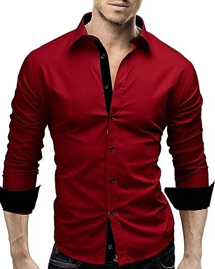 recherche chemise homme rouge)