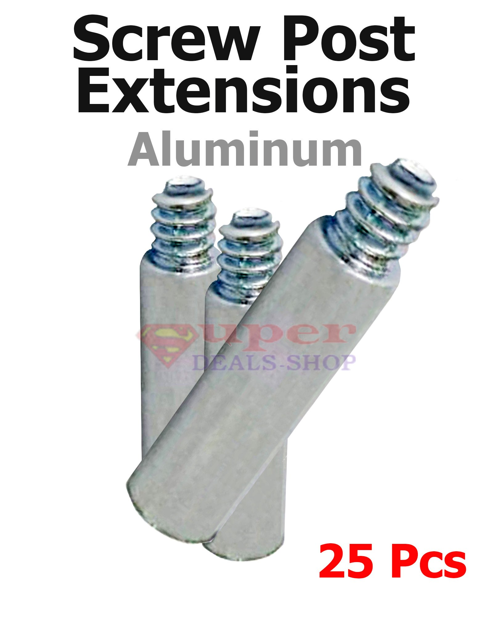 25 Pcs #8-32X1 Aluminum Screw Post Extensions/Additional Book Documet Album Binding Posts/Chicago Screws Binding Post Super-Deals-Shop