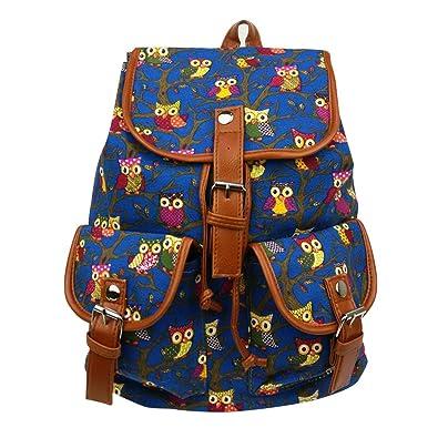Bonamana Unicorn Backpack School Rucksack Luggage Travel Gym Bag For Boys Girls Blue OWL