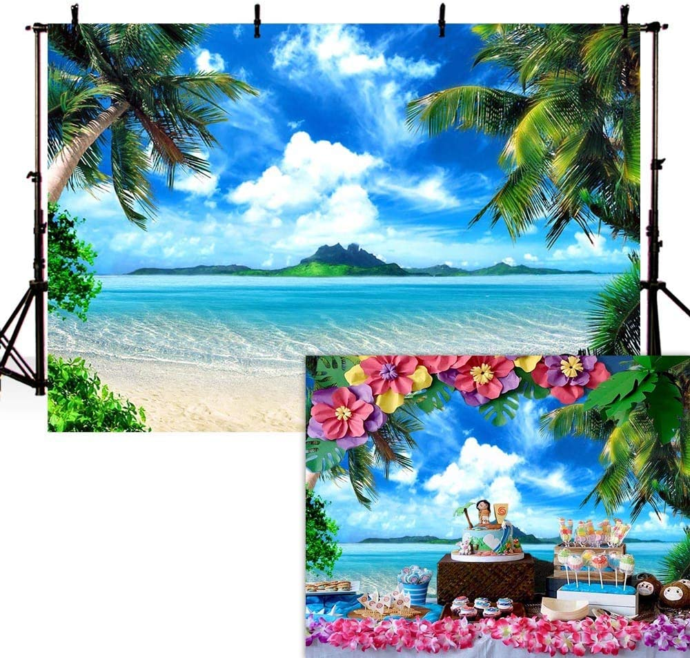 5X7ft Vinyl Beach Themed Photography Backdrop for Portrait Children Baby Shower New Born Summer Holiday Photo Backgrounds Studio