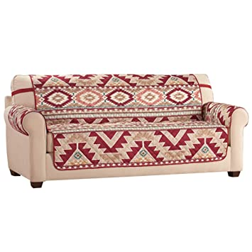 Super Collections Etc Aztec Southwest Patterned Furniture Cover With Bold Aztec Design And Solid Burgundy Reverse Sofa Cjindustries Chair Design For Home Cjindustriesco