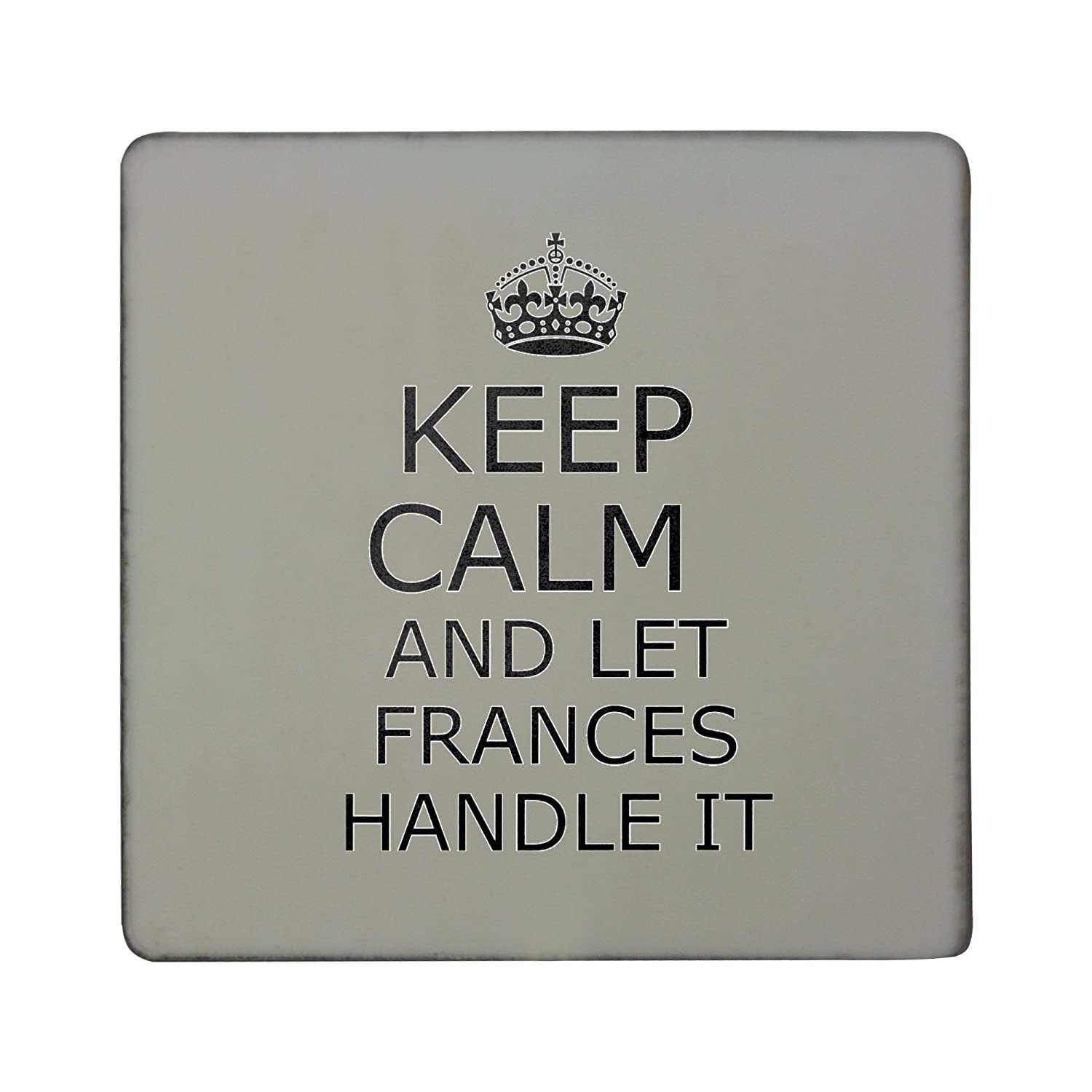 Compra Mango it Frances Keep Calm And Carry On rígido cuadrado ...