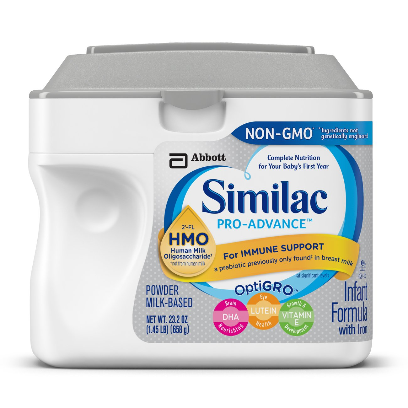 Similac Pro-Advance Non-GMO Infant Formula with Iron, with 2'-FL HMO, For Immune Support, Baby Formula, Powder, 23.2 ounces, 6 count by Similac