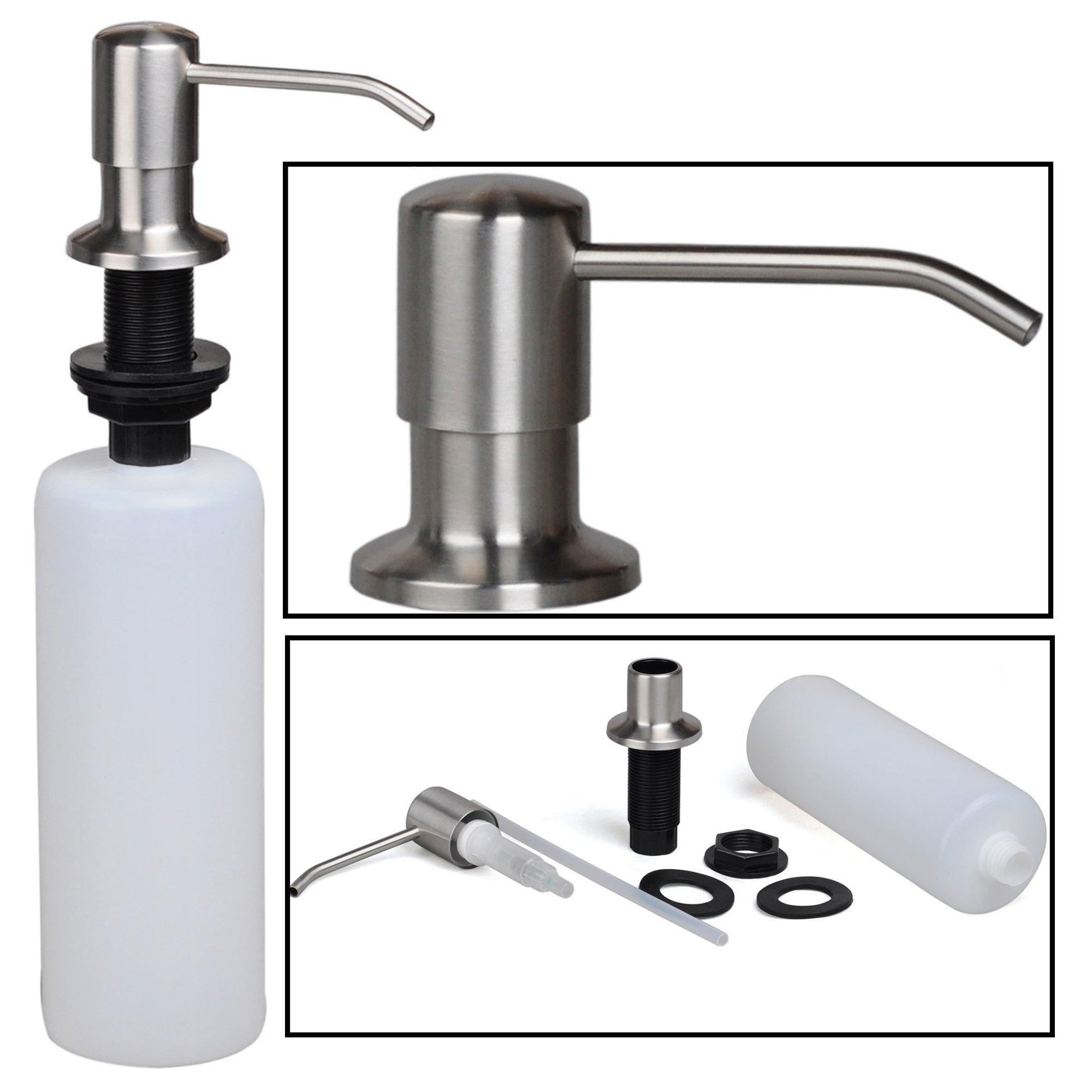 stainless steel built in pump kitchen sink dish soap dispenser large capacity 613894773297 ebay. Black Bedroom Furniture Sets. Home Design Ideas