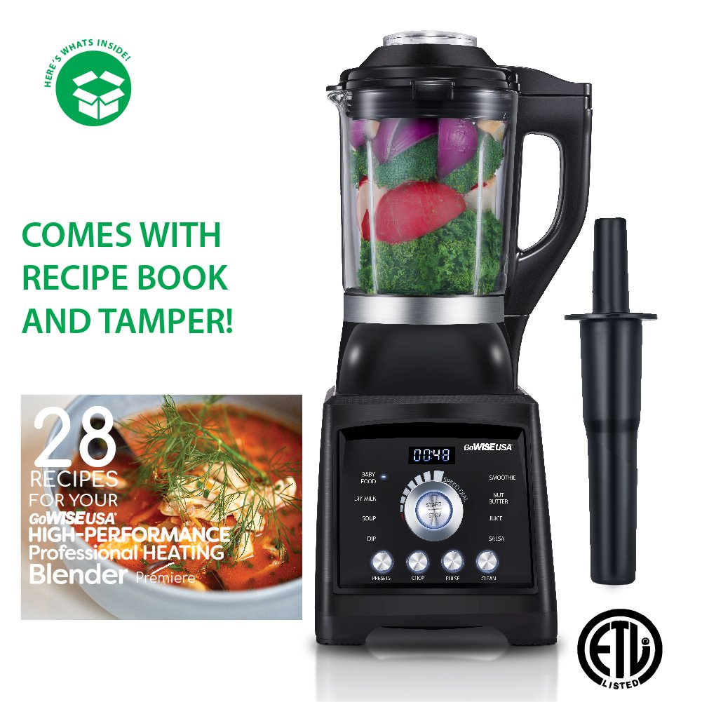GoWISE USA High-Speed Professional Blender (1400W Streamline Heating)