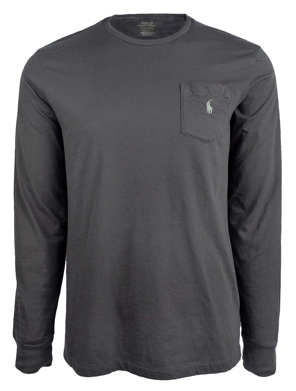 07744e0003c0 RALPH LAUREN Polo Men's Custom Slim Fit Cotton Long Sleeve T-Shirt-I-L