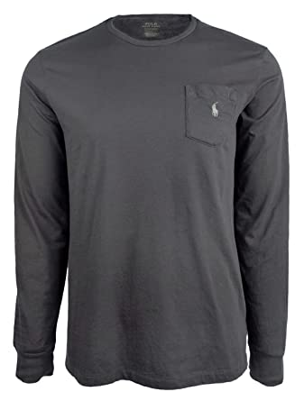 4e392ce88ddf RALPH LAUREN Polo Men Long Sleeve Pony Logo T-Shirt with Pocket (Navy