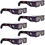 Solar Eclipse Glasses with Solar Filter - 6 Pack Polarized Solar Eclipse Sunglasses for 2017 - Total Solar Eclipse Viewing Glasses with Premium Lenses - Protects Your Eyes from the Sun for Clear View