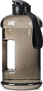 Half Gallon 2.2L/75oz Dishwasher Safe/Ecofriendly/Tritan BPA Free Water Jug Large Reusable Water Bottle Plastic/Leakproof/Odorless/Wide Mouth Drinking Gym for Men Women Fitness Outdoor