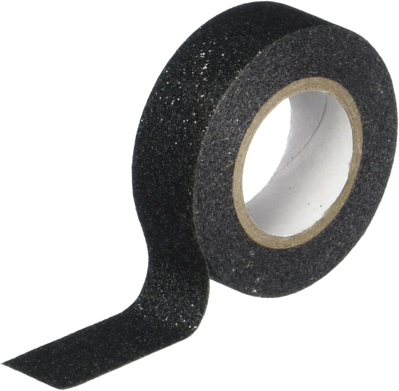 Cinta Adhesiva Glitter negra 15mm - 5m