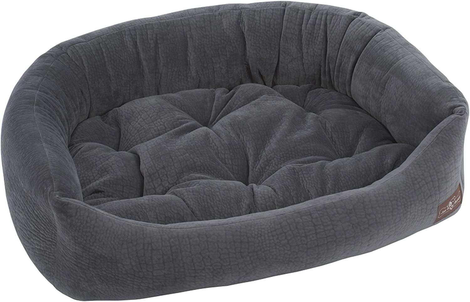 Jax and Bones Ripple Velour Napper Dog Bed