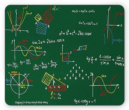 Cojín de ratón de la sala de clase de las matemáticas ...