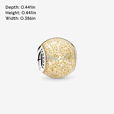 Buy Pandora Jewelry Gold Glitter Ball Sterling Silver Charm Online In Indonesia B078wwgm5v
