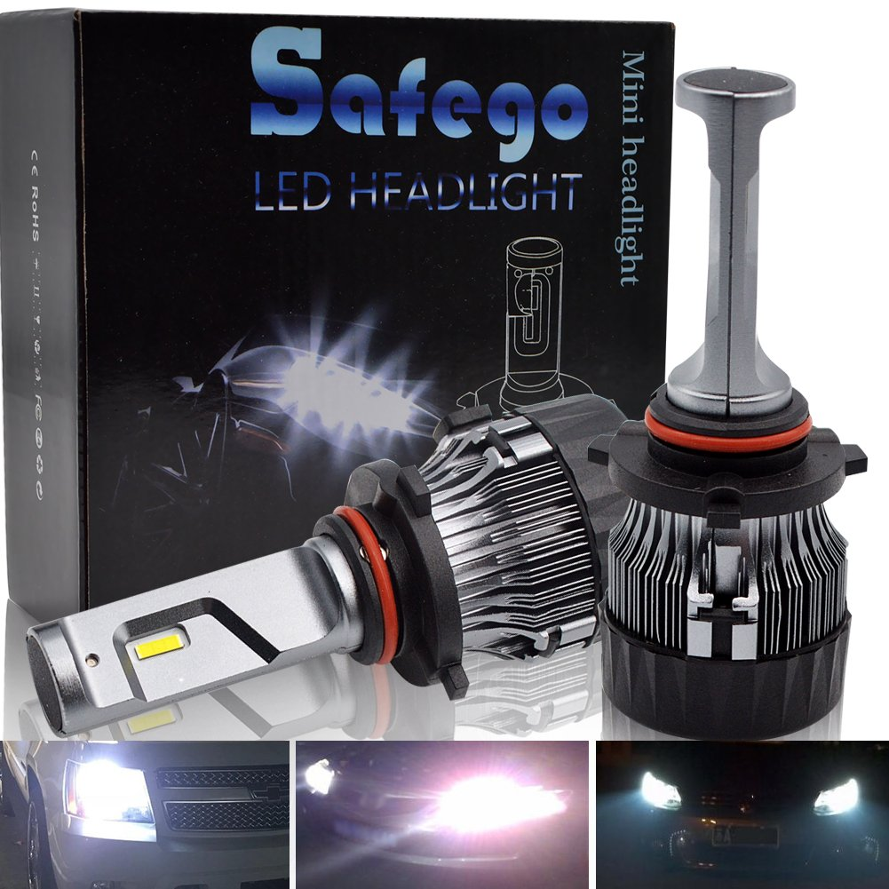 9005 LED Kit Lampadine Faro Auto - Safego HB3 60W 10000LM Kit Conversione LED Automatico Chip LED Sostituisci per Luci Alogene Auto o Lampadine HID 12V MiniHL-9005 NA