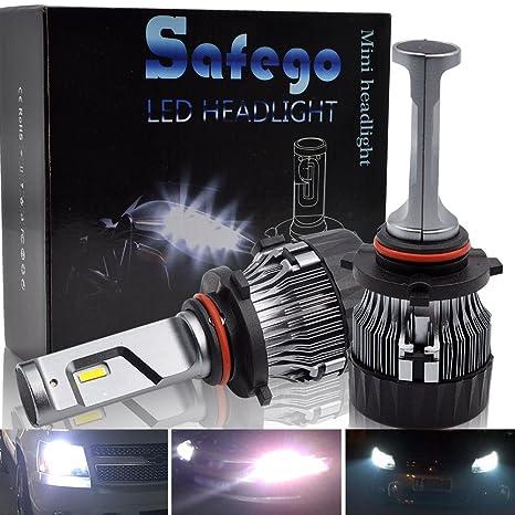 9005 LED Faro Bombillas Kit - Safego HB3 60W LED LED Chips 10000LM LED Coche Kit