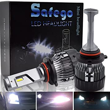 9005 LED Faro Bombillas Kit - Safego HB3 60W LED LED Chips 10000LM LED Coche Kit