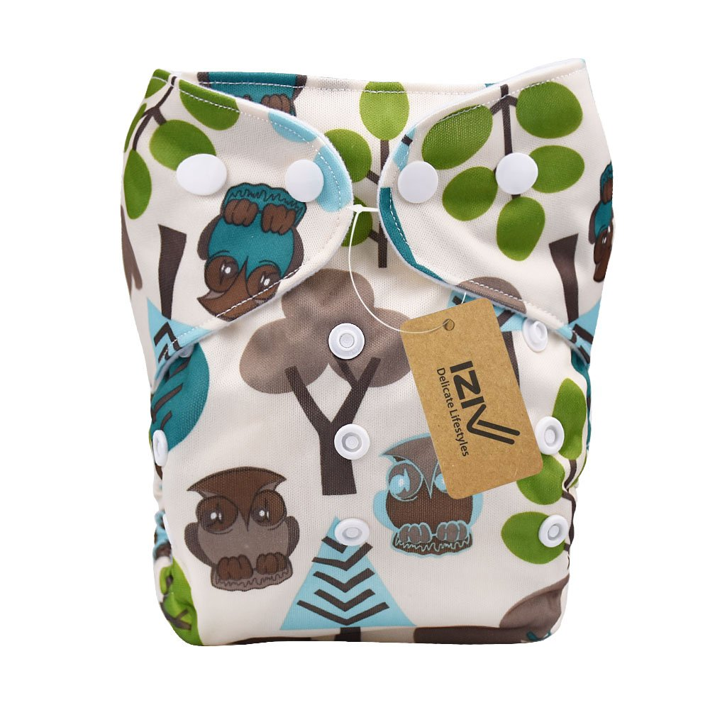 iZiv(TM) Newborn Organic with 1 Thick Insert Infant Waterproof/Adjustable/Reusable/Washable Pocket Cloth Diaper Fit Babies 0-3 Years (Color-4) Dlife