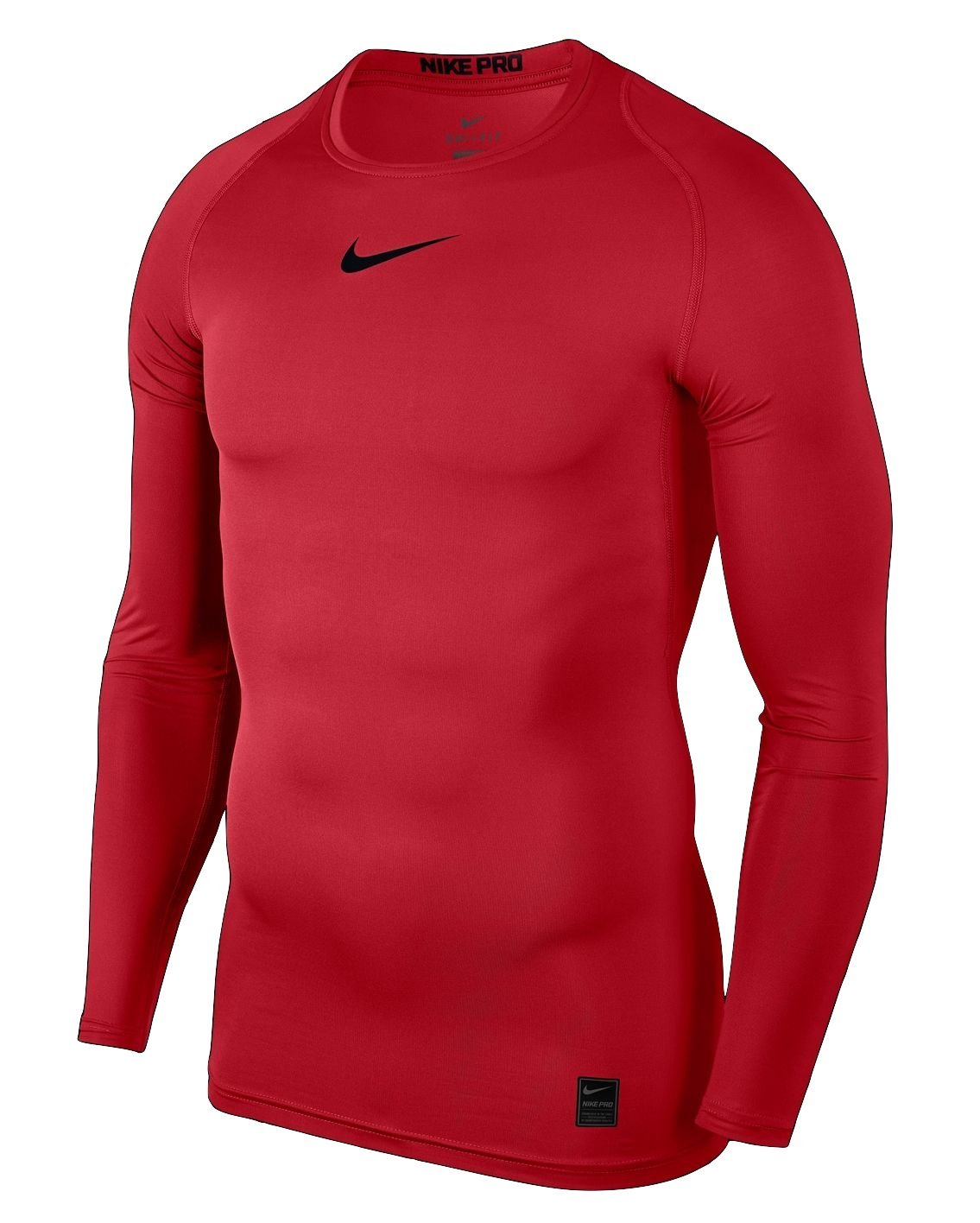 NIKE Pro Longsleeve Compression Shirt (University Red/Black, S)