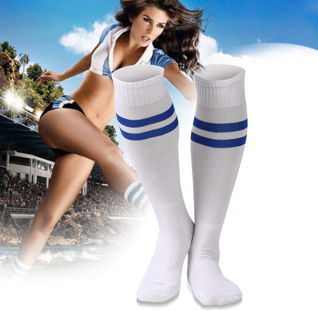 Dailyinshop 1 par de Deportes Calcetines hasta la Rodilla Medias Legging F/útbol F/útbol B/éisbol sobre la Rodilla Tobillo Hombres Mujeres Calcetines