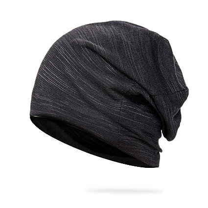 b8c58e76897 HiCool Slouchy Beanie Hat Unisex Beanie Sport Hat Thin Cotton Stretch Baggy  Thin Headwear Hat -