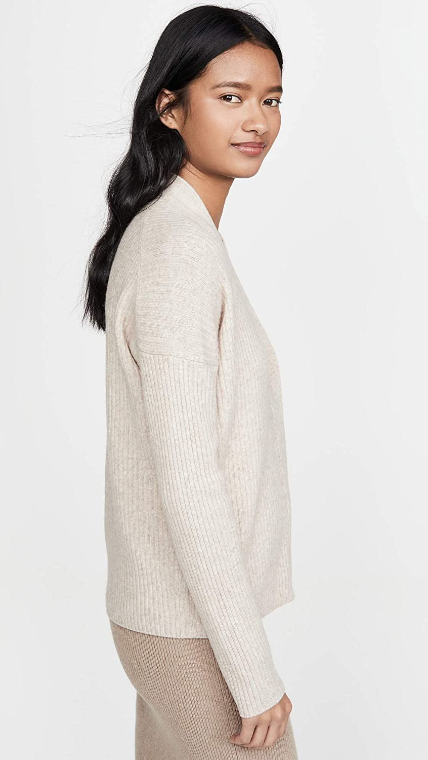 Vince Womens Ribbed Button Cardigan