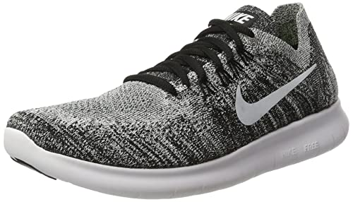 693449223bd2 Nike Womens Free RN Flyknit 2017 Running Shoes Black Volt White 880844-003.  Roll over image to zoom in
