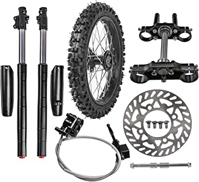 TDPRO Front 70//100-17 Wheel Tire and Rim With 15mm Bearing /& Brake Disc Rotor /& Hydraulic Disc Brake Caliper Master Cylinder /& Rim Axle Set for Dirt Pit Trail Bike