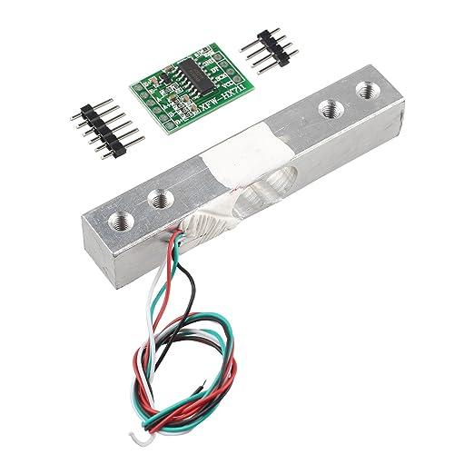 haljia portátil electrónico Sensor de peso célula de carga sensor de pesaje (1KG) + HX711 Módulo de pesaje sensores ad para Arduino Raspberry Pi DIY etc.