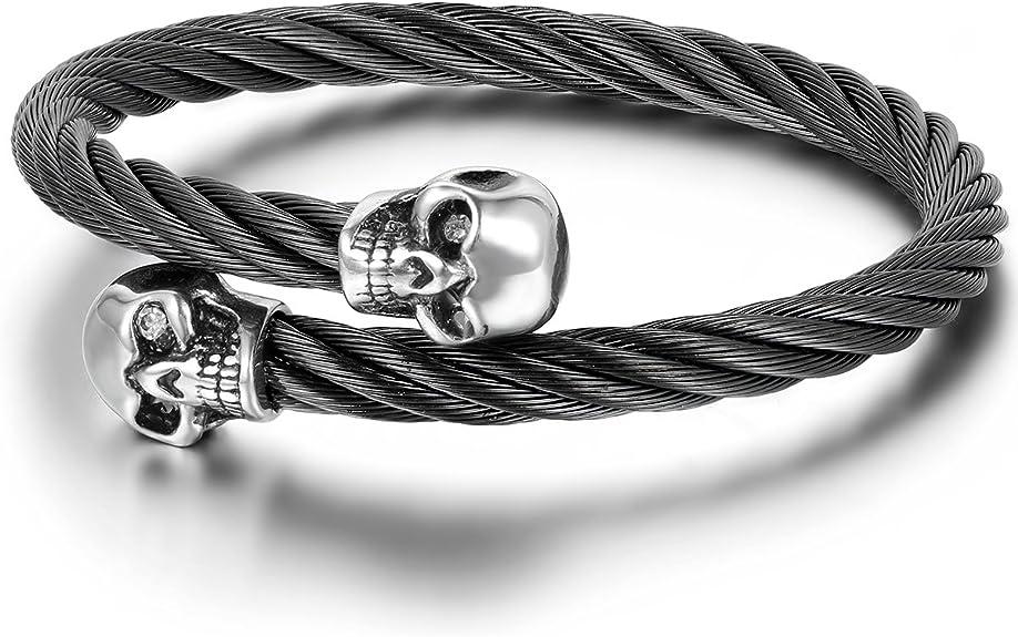 Acheter bracelet tete de mort online 3
