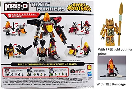 Amazon Com Kre O Combiner Rampage Gold Optimus Prime Minifigure