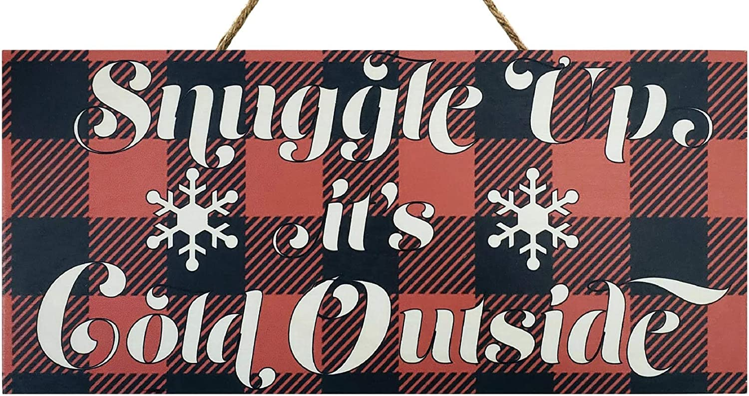 JennyGems Christmas Wood Sign   Christmas Decor   Christmas Decorations  Snuggle Up Its Cold Outside   Made in The USA