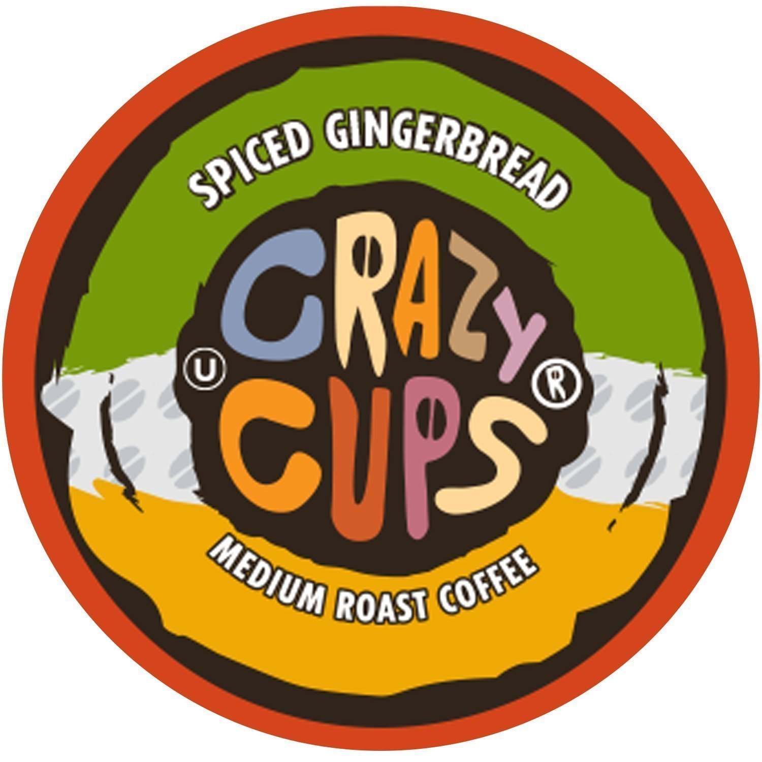Crazy Cups Flavored Hot or Iced Coffee, for the Keurig K Cups 2.0 Brewers, Seasonal Spiced Gingerbread, 22 Count by Crazy Cups
