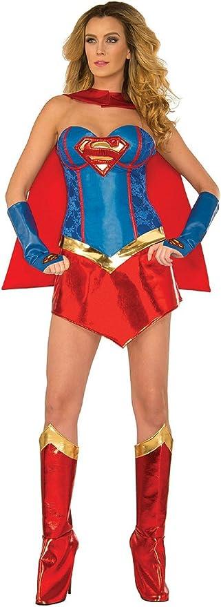 Top Totty Deluxe Sexy Supergirl disfraz: Amazon.es: Productos para ...