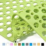 Mantto Nonslip Bathtub Mat Extra Soft Eco Friendly TPE Bath Mat for Kids, Machine Washable Bathroom Shower Mat, Smooth…