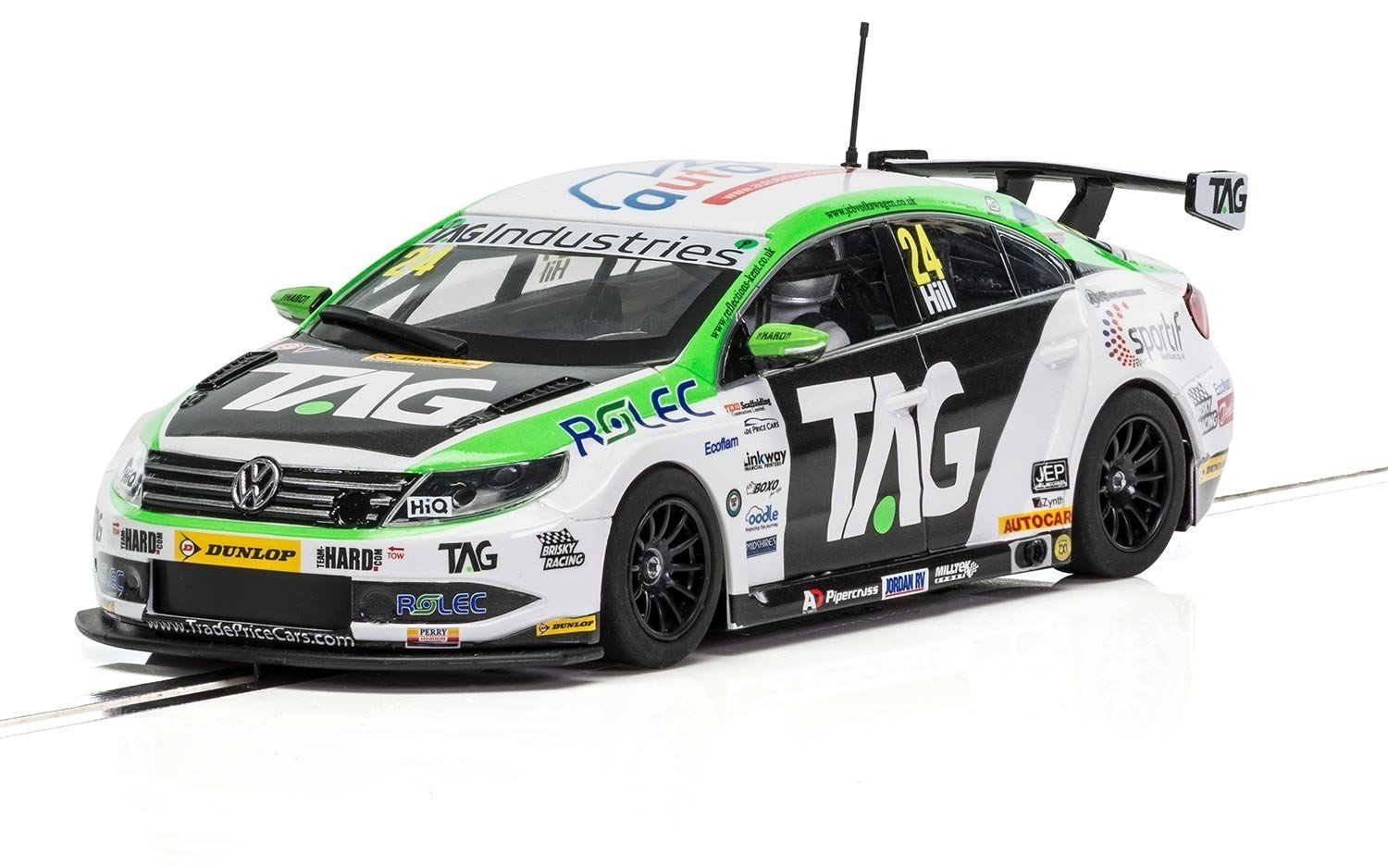 Scalextric C3918 VW Passat Ngtc Team Jack Hill Slot Car, 1: 32 Scale, White