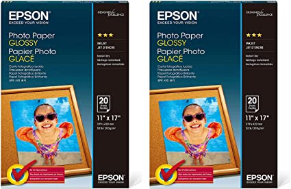 8x10 Inches, 20 Sheets Epson Premium Photo Paper GLOSSY S041465
