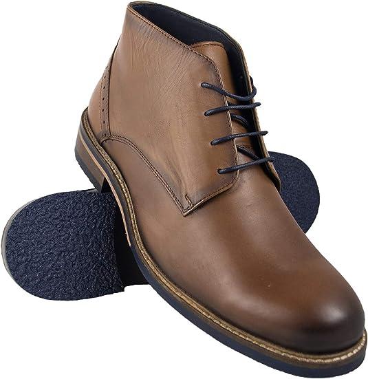 TALLA 45 EU. Zerimar Botas Hombre | Botines Hombre| Botas Hombre Altas Cuero| Botas Hombre Altas Piel | Botines Hombre Altos| Zapatos Hombre Vestir