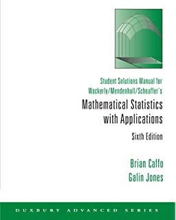 Amazon mathematical statistics with applications mathematical student solutions manual for wackerlymendenhallscheaffers mathematical statistics with applications 6th fandeluxe Choice Image