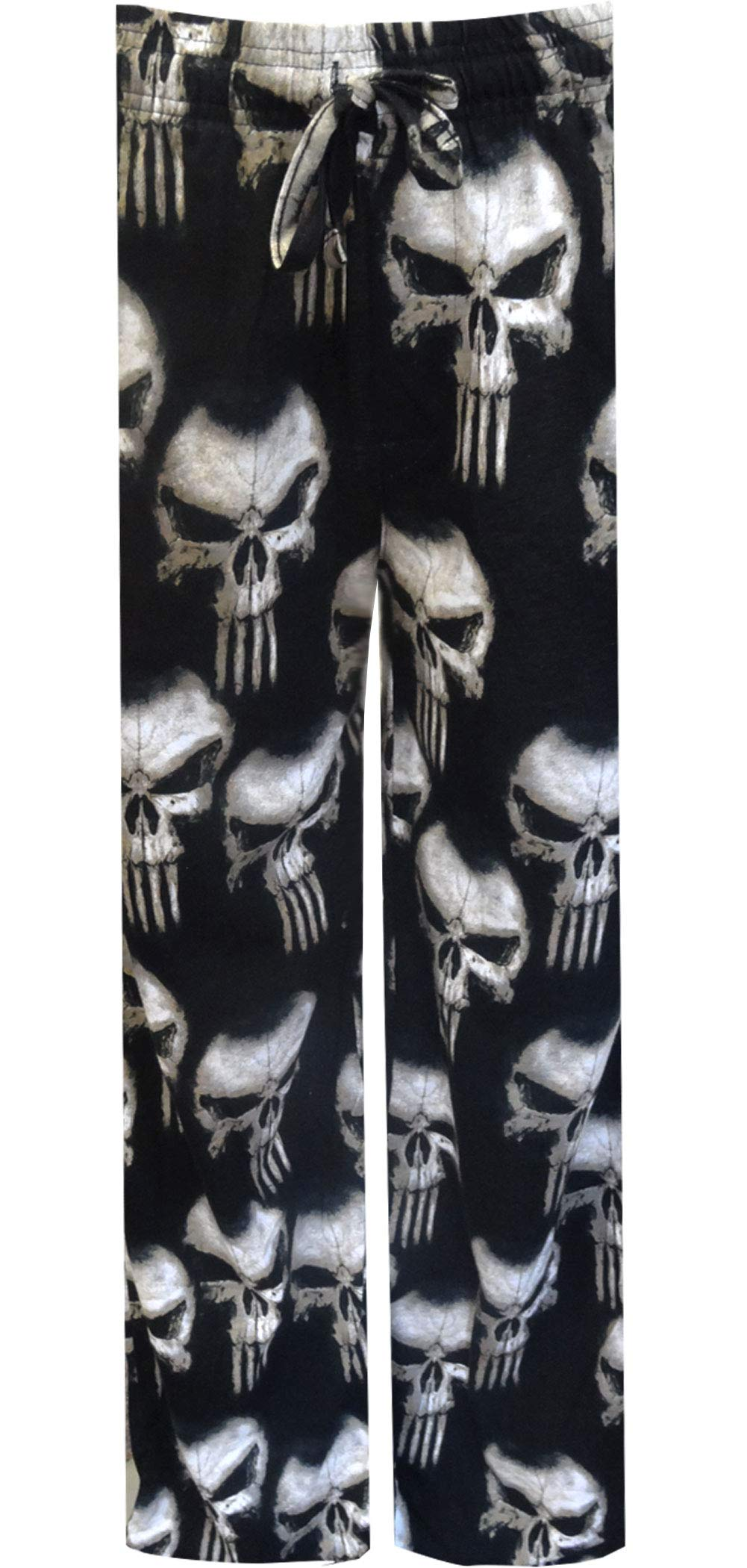 Marvel Comics The Punisher White Skull Print Mens Loungewear Lounge Pants Gift