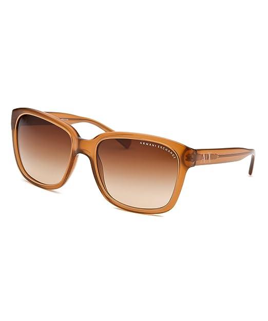 9cf1893576a0 Armani Exchange Women Sunglasses AX 4002 8013 13 Light Brown Light Brown  Square Transparent