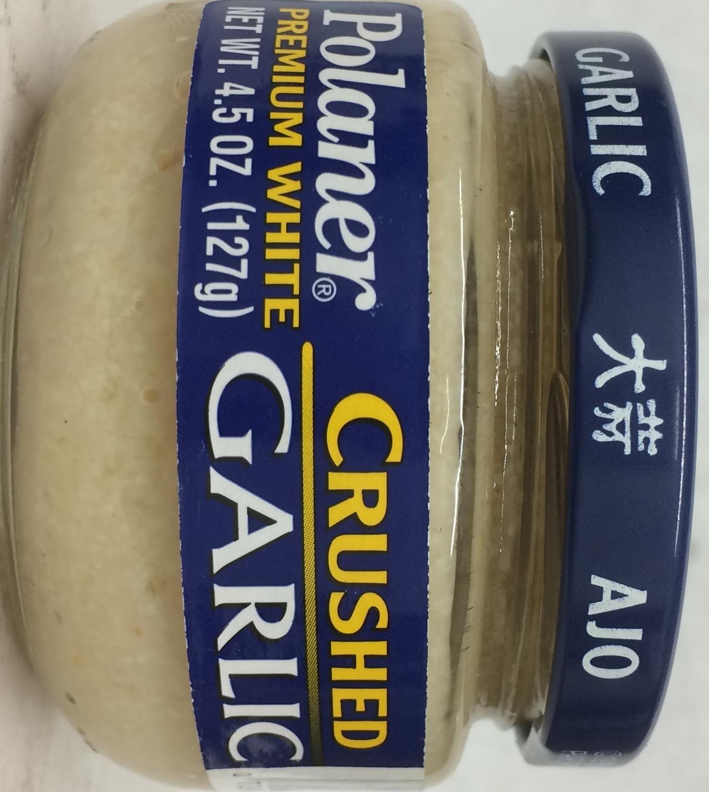 Polaner Premium White Crushed Garlic 4.5 Oz. Pk Of 3.
