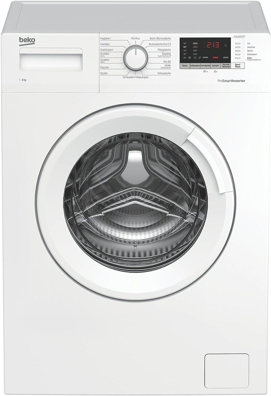 Beko WML 61633 NPS Waschmaschine Frontlader//A+++//1600 UpM//kg//liter//jahr//Restzeitanzeige//Kindersicherung