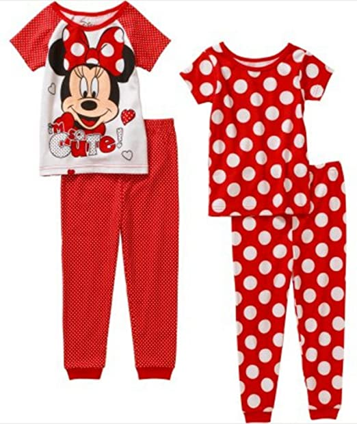 5857a45c3b9c Amazon.com  Minnie Mouse Toddler Cotton Tight Fit Short Sleeve 4 ...