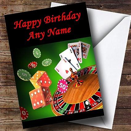Casino Gambling personalizado tarjeta de cumpleaños: Amazon ...