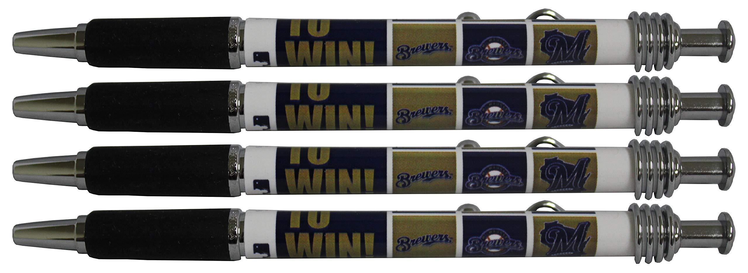 Milwaukee Brewers Jazzy Pen 4pk