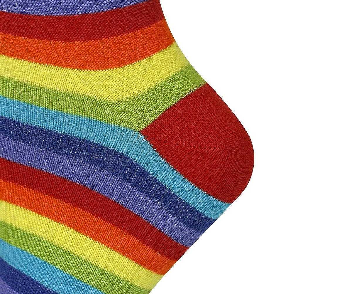 Mysocks Calzini al ginocchio banda Cotone pettinato extra puro arcobaleno magro