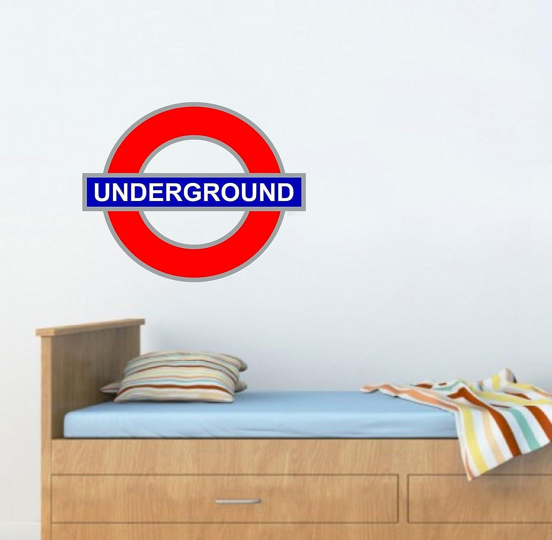 Subway Map Wall Art Wall Art Stickers Wall Decal Huge Underground Tube Map.London Underground Tube Station Wall Sticker Bb091