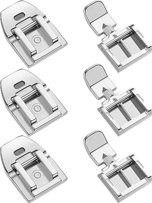 Prensatelas invisibles para máquina de coser de 6 piezas, para la mayoría de máquinas de coser de caña baja, 2 estilos: Amazon.es: Hogar