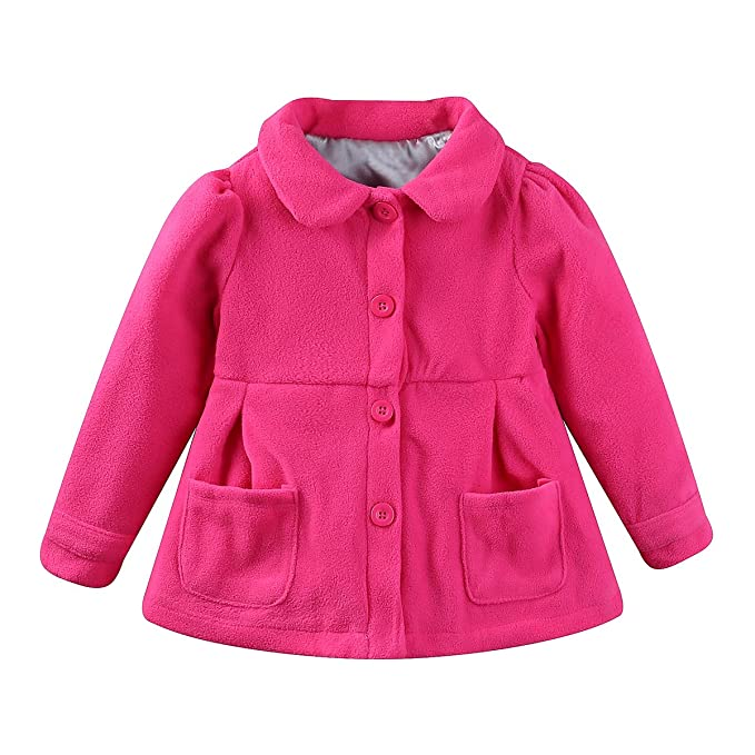 13865d922287 Amazon.com  UWESPRING Baby Girls Dress Coat Faux Fur Button  Clothing