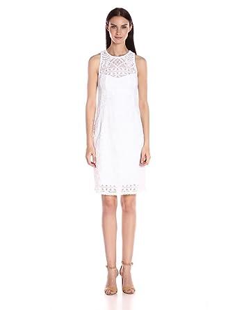 sheath white lace dress
